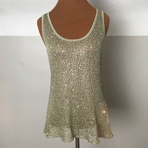 Willow and Clay knit racer back tank with sequins